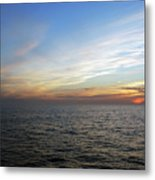A Sunset On The Last Day At Sea Metal Print