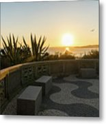 A Sunset Relaxation Zone - Metal Print