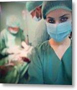 A Surgeon Taking Selfie  Metal Print