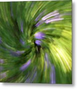 A Swirl Of Color Abstract Metal Print