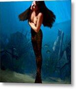 A Temple Mermaid Metal Print