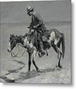 A Texas Pony Metal Print