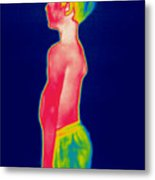 A Thermogram Of A Boy In Shorts Profile Metal Print