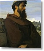A Thinker A Young Roman Monk Metal Print