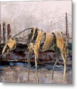 A Thirsty Horse 1 Metal Print