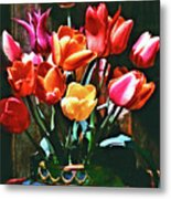 A Time For Tulips Metal Print