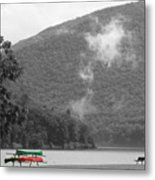 A Touch Of Color By The Lake Metal Print