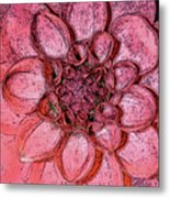 A Touch Of Coral Metal Print