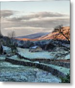 A Touch Of Frost In Swaledale Metal Print