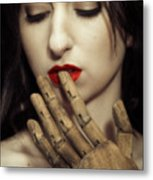 A Touch Of The Lips Metal Print