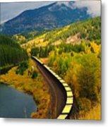 A Train Of Golden Grain  Metal Print