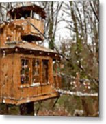 A Treehouse For All Seasons Metal Print