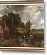 A Tribute To John Constable Catus 1 No.1 - The Hay Wain L A  With Alt. Decorative Ornate Printed Fr  Metal Print
