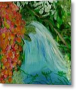 A Tropical Waterfall Metal Print