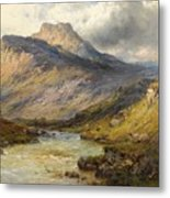 A Trout Stream Near Stirling Metal Print