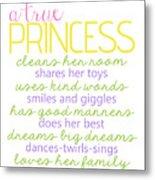 A True Princess Does Her Best Metal Print