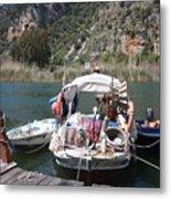 A Turkish Fishing Boat On The Dalyan River Metal Print