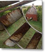 A Turn-of-the-century Peg Barn As Seen Metal Print