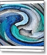 A Turquoise Wind Metal Print
