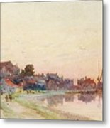 A Twighlight Harbour Scene Metal Print