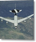 A U.s. Air Force E-3 Sentry Airborne Metal Print