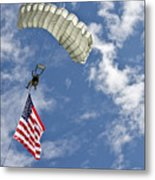 A U.s. Air Force Member Glides Metal Print