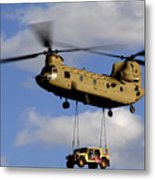 A U.s. Army Ch-47 Chinook Helicopter Metal Print