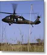 A U.s. Army Uh-60 Black Hawk Helicopter Metal Print by Stocktrek Images