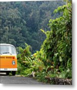 A Van Alone Metal Print