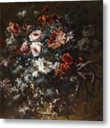 A Vase Of Flowers Metal Print