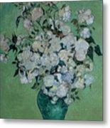 A Vase Of Roses Metal Print by Vincent van Gogh