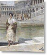 A Venetian Beauty Metal Print
