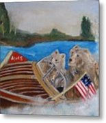 A Very Beary Fun Lake Day Metal Print