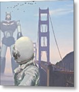 A Very Large Robot Metal Print