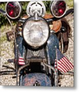 A Very Old Indian Harley-davidson Metal Print by James BO  Insogna