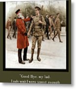 A Veteran's Farewell - Ww1 Metal Print