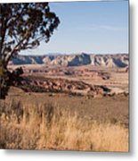 A View Down Into The Canyon That Forms Metal Print