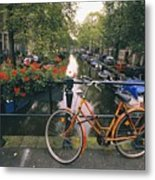 A View Down The Keizersgracht Canal Metal Print