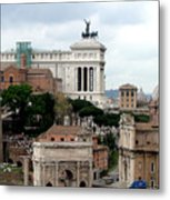 A View From Palatine Hill In Rome Italy Metal Print