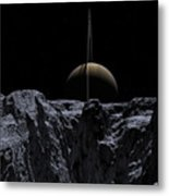 A View From Rhea Metal Print