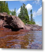 A View From The Lake Metal Print