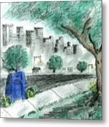 A View From The Park Metal Print