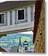 A View Of Cesky Krumlov In The Czech Republic Metal Print