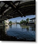 A View Of Chicago From Under The Division Street Bridge Metal Print