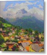 A View Of Engelberg Switzerland Metal Print