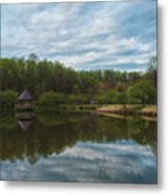 A View Of Meadowlark Gardens Early On A Spring Morning Cm1 Metal Print