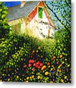 A View Of Monets House In Giverny France Metal Print