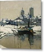 A View Of Neuss In Winter Metal Print