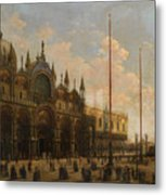 A View Of St. Mark's Basilica Metal Print