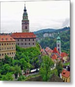 A View Of The Cesky Kromluv Castle Complex In The Czech Republic Metal Print